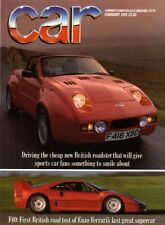 February Monthly Cars, 1980s Transportation Magazines