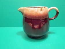 Vintage McCoy Brown Drip Glazed Pottery Cream Pitcher #7020 - Made In U.S.A.