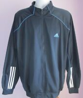 VTG Mens ADIDAS Navy/Pale Blue Piping Track Suit Sport Top Size Large (56e)