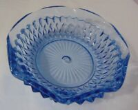 Indiana Glass Regal Blue Diamond Point Candy Dish 5 1/2""
