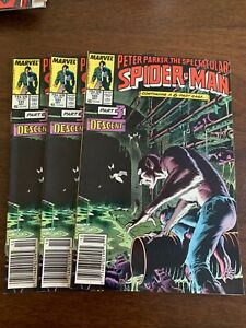 Spectacular Spider-Man #131 (Oct 1987, Marvel) LOT OF 3 Newsstand Kraven FN+/VF-