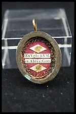 † 19TH BVM + ST ALOYSIUS GONZAGA RELIQUARY 2 THECA RELIC WAX SEAL ITALY †