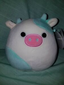 """Squishmallow BELANA THE COW 5"""" NWT"""