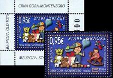 """MONTENEGRO/2015 - (Block+Stamp Set) Europa CEPT """"Old Toys"""", MNH"""