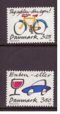 Denmark MNH 1990  Prevent Bicycle Thefts and Stop Drunk Driving  set mint stamps