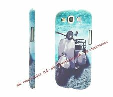 Protective Hard Back Case for Samsung Galaxy S3 SIII Mobile Phone Retro Vespa