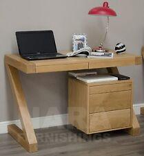 Zaria solid oak designer furniture small office PC computer desk