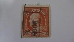 Vintage Orange Red USA Used 30 Cent Stamp
