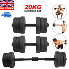 20kg Dumbells Pair of Gym Weights Barbell/Dumbbell Body Building Weight Set