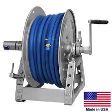 """PRESSURE WASHER & SPRAYER Manual Hose Reel - 125 Ft 3/8"""" or 75 Ft 1/2"""" ID Hose"""