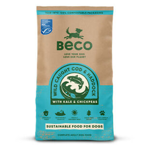 Beco Wild Caught Cod & Haddock with Kale & Chickpeas Dry Adult Dog Food.