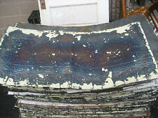 "GORGEOUS antique VICTORIAN tin ceiling pressed FLORAL fleur pattern 24.75"" x 48"""