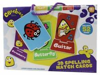 CBeebies 3D Spelling Match Cards Early Years Preschool Toys Christmas Gift New