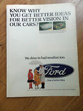 1968 Ford Ad  Get Better Vision in Our Cars?  Rear Window DeFogger