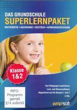 Das Grundschule SUPERLERNPAKET Klasse 1&2 Marke: wmpsoft PC CDROM NEU OVP