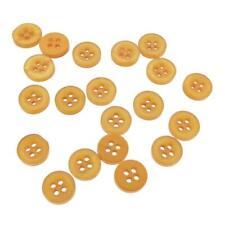 J100 Small 11mm  Yellow Light Orange Mustard 50 100 200 Buttons Mixed Craft