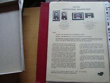 ANDORRE (francais) - document 1977 yt n° 265 266 n* andorra