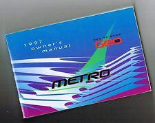 1997 GEO METRO Owners Glove Box Manual, no brochure, 230 pages! Original