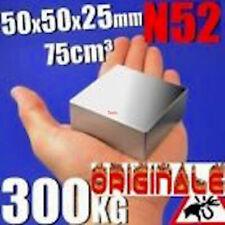 Magneti Neodimio Calamita Potente Magnete  50 X 50 X 25 Calamite Strong N 52