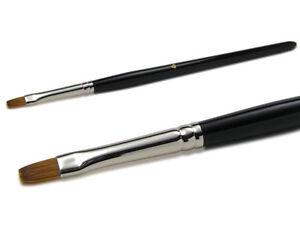 Gel Brush Size 8 Flat Kolinsky Red Sable Hair Wood Handle Made IN Germany