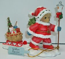 Cherished Teddies Santa Figurine 2018 William # 132073 NEW