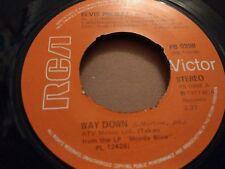 """ELVIS PRESLEY """" WAY DOWN """" 7"""" SINGLE EXCELLENT 1977 PB 0998 RCA VICTOR"""