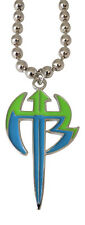 Jeff Hardy Green Logo Pendant Necklace with silver chain WWE