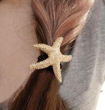 BNWT-oro estrellas de mar Cabello Elástico