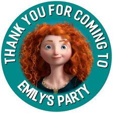 Disney Coraggioso 24 Personalizzato Lucido Per Bambini Festa Di Compleanno Borsa ADESIVI