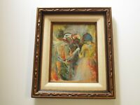 1960 PANTING EXPRESSIONISM MODERNISM MYSTERY ARTIST PORTRAIT ABSTRACT VINTAGE