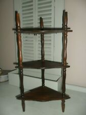 Vintage Small Wood Hanging/Standing 3 Tier Corner Spindle What Not