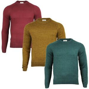 Men's Crew Neck Long Sleeve Regular Fit Solid Colour Casual Jumper Sweater Tops