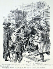 UNFORTUNATE PEDESTRIAN 1913 C.N. Heathcote - Hawker PUNCH CARTOON PRINT