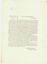 CIVIL WAR US NAVY ADMIRAL ANDREW HULL FOOTE MOURNING ORDER FORT DONELSON