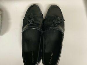 Rockport Mens Black Leather Kilt Tassel Loafers Slip-On Shoes Size10.5 M