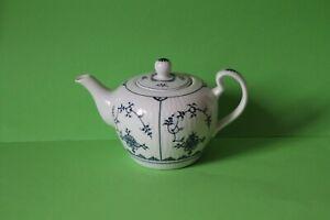 Original Historisch Porzellan Blau Dresmer Indisch Blau Teekanne Kanne 0,8 Liter