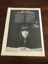 1978 Vintage 8X11 Album Promo Print Ad For Nigel Olsson Solo Elton John Drummer