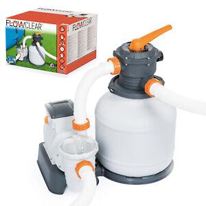 BESTWAY 58499 Flowclear Profi Sandfilteranlage Pool Filterpumpe mit Timer