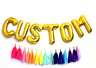 """16"""" Letters Numbers Foil Balloons Gold Silver Blue Pink Custom Age Name baloons"""