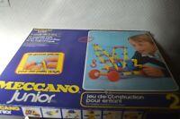 BOITE JUNIOR  MECCANO N° 2 JEU DE CONSTRUCTION PLASTIQUE VINTAGE 1970 221102