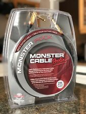 Rock Guitar Cable Monster Prolink 21ft 6.40m Gold Plated Angled to Straight