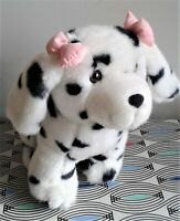 """Dalmatian with Pink Bows 12"""" Birthdays Soft Toy Plush  Comforter Excellent"""