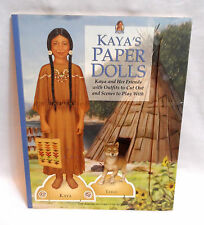 Kaya'S Paper Dolls American Girl Cut Out Book Native American theme Tatlo dog