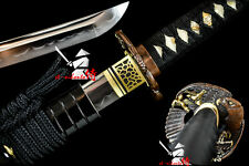 clay tempered folded steel blade japanese functional katana full tang sword