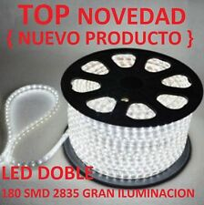 BOMBILLA TIRA LED LUZ FRIA BLANCA 220V DOBLE LED 180 SMD2835 IP65 14MM 230V 240V