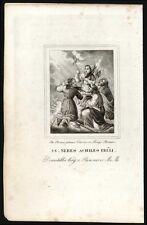 santino incisione 1800 SS.NEREO ACHILLEO DOMITILLA E PANCRAZIO MM.