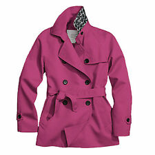 New Coach Womens Solid Short Trench Jacket Coat F83641 Passion Berry XL $348