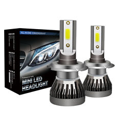 2 x H7 LED Headlight Conversion Kit COB Bulb 110W 30000LM White High Power 6000K