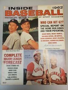 1962 Inside Baseball MICKEY MANTLE & ROGER MARIS Who Can Hit 62? Frank Robinson