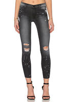 BLACK ORCHID Noah Mid Rise Ankle Fray Bleached Skinny Jeans 26 Galaxian Grey 316